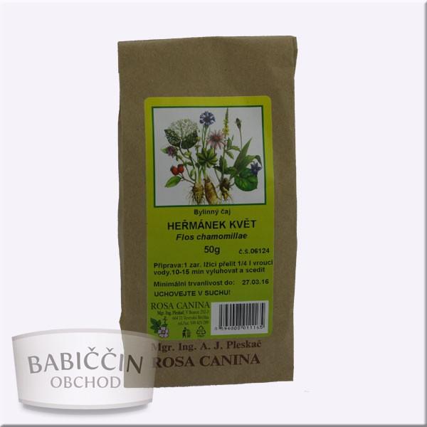 Byliny - otec Pleskač - Heřmánek květ-Flos chamomillae 50 g