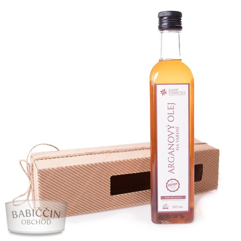 Bio kosmetika - Arganový olej na vaření 500 ml - dárkové balení