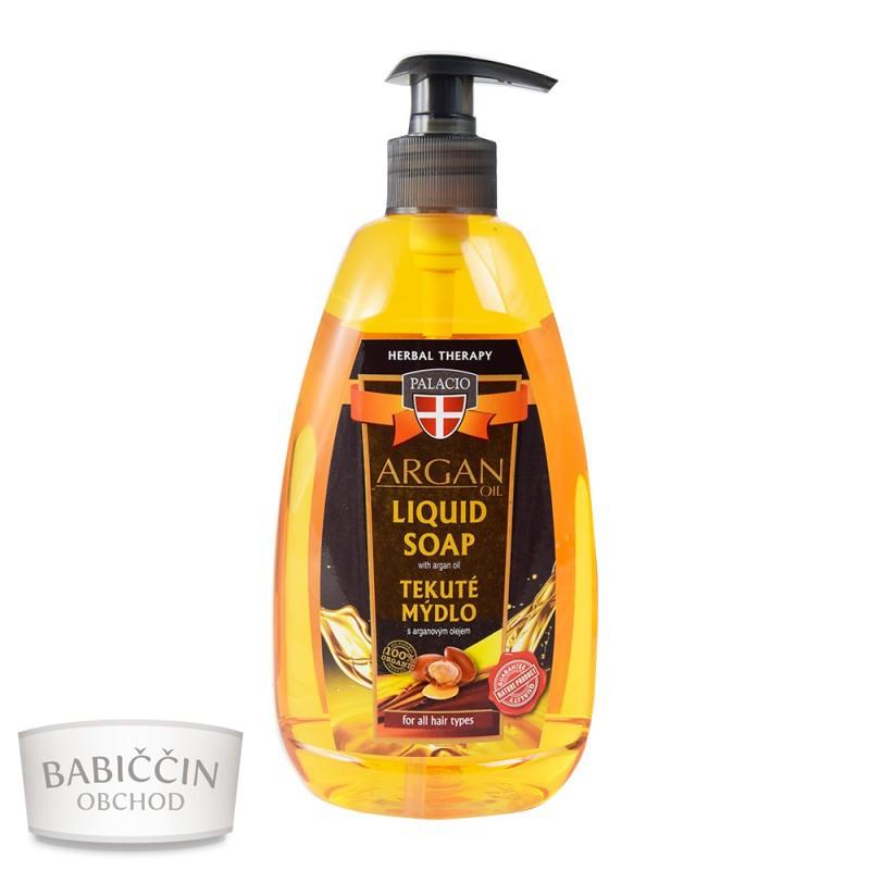 Přírodní kosmetika - Arganové tekuté mýdlo s pumpičkou 500ml