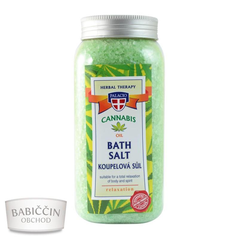 Přírodní kosmetika - Konopná koupelová sůl 900 g