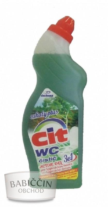 Drogerie - WC čistič aktivní gel - zelený eukalyptus