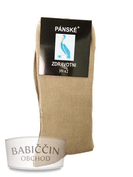 Výrobky z ovčí vlny - Zdravotní ponožky pánské béžové