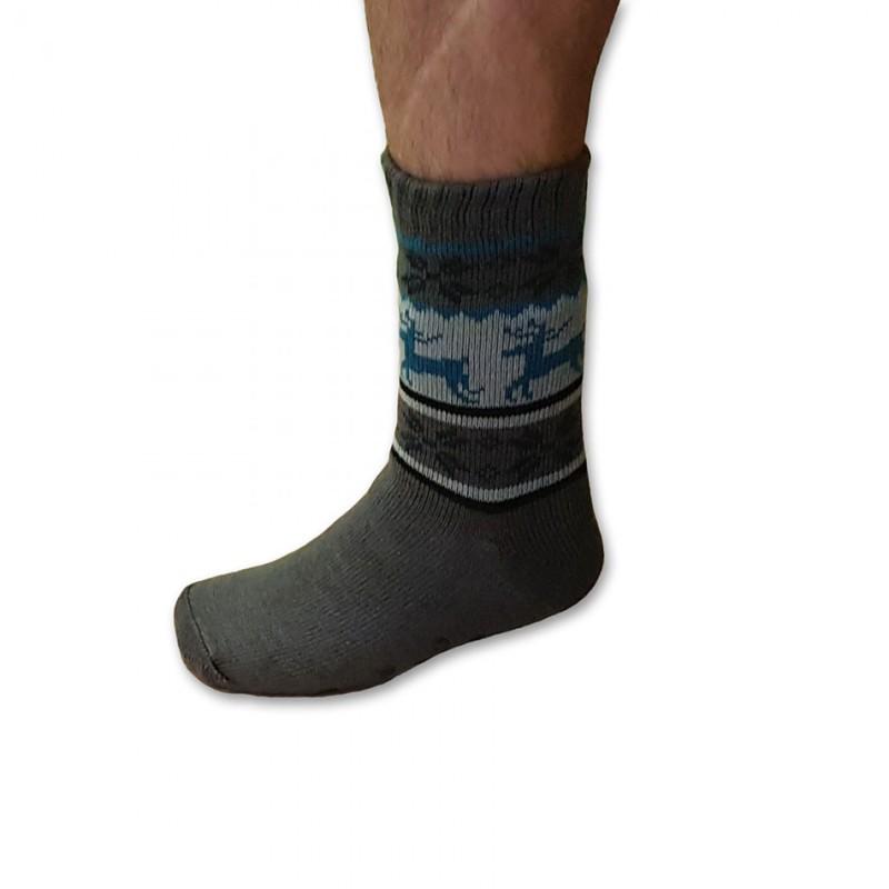 b867a49b393 Spací ponožky oblíbené s kožíškem pánské tmavě šedé - Babiččin obchod