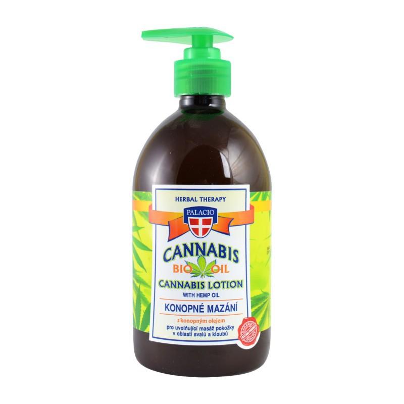 Přírodní kosmetika - Konopné mazání s pumpičkou 500 ml