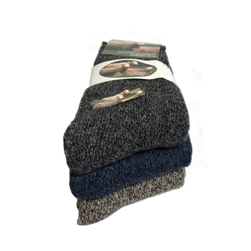 Výrobky z ovčí vlny - Vlněné ponožky mix 3 ks