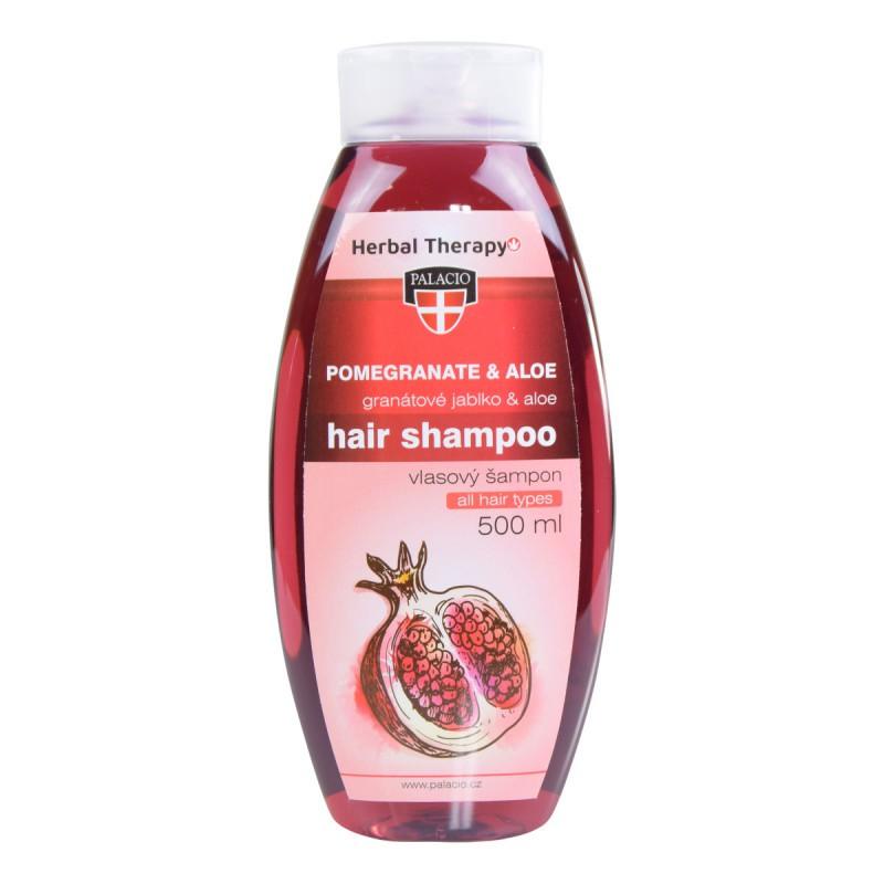 Přírodní kosmetika - Granátové jablko s Aloe šampon na vlasy 500ml