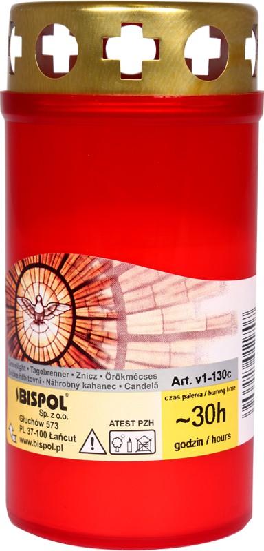 Aromaterapie - Hřbitovní svíčka červená 100 g