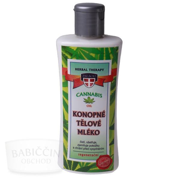 Přírodní kosmetika - Cannabis konopné tělové mléko 250 ml
