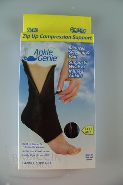 Masážní pomůcky a ortézy - Bandáž na kotník se zipem