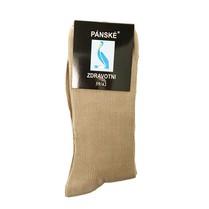 Zdravotní ponožky pánské béžové