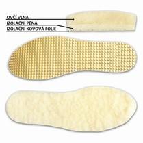Vložky do bot vlněné s izolační fólií