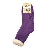 Spací ponožky jednobarevné fialové