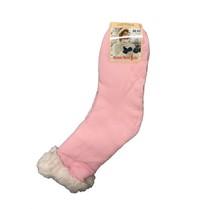 Spací ponožky jednobarevné růžové