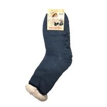 Spací ponožky jednobarevné tmavě modré