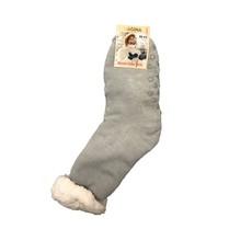 Spací ponožky jednobarevné šedé