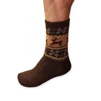 Spací ponožky pánské hnědé
