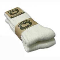 Ponožky z ovčí vlny bílé