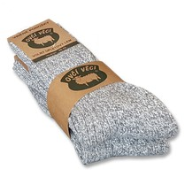 Ponožky z ovčí vlny Sibiřky šedý melír 425g