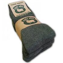 Ponožky z ovčí vlny - zelené Hunter