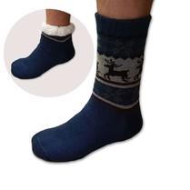 Spací ponožky pánské modré