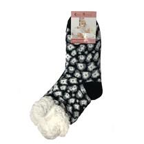 Spací ponožky černý leopard
