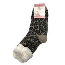 Spací ponožky hnědý leopard
