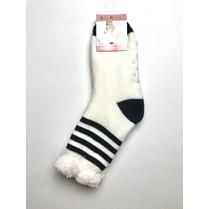 Spací ponožky bílé pruhované