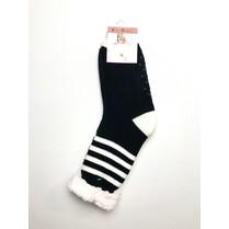 Spací ponožky černé pruhované