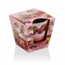 Svíčka vonná ve skle FRUIT muffins - cherry strawberry 115g