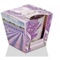 Svíčka vonná ve skle LAVENDER kiss - fresh lavender 115g