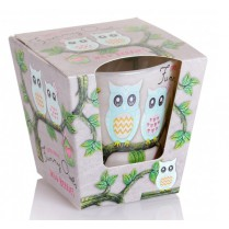 Svíčka vonná ve skle Funny owls - wild berries 115g