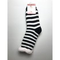Spací ponožky černobílé pruhované