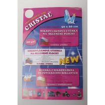 Utěrka na sklo z mikrovlákna CRISTAL